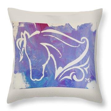 Regal Horse Throw Pillow