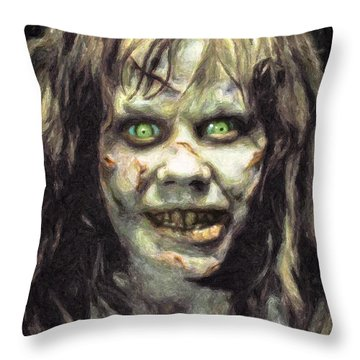 Regan Macneil Throw Pillow by Taylan Apukovska