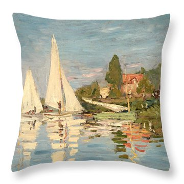 Regatta At Argenteuil Throw Pillow