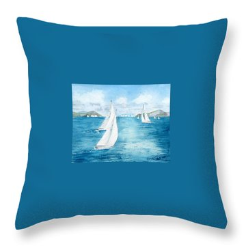 Regatta Time Throw Pillow