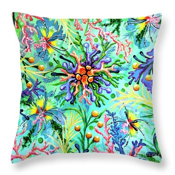 Regenerate Throw Pillow by Sandra Lett