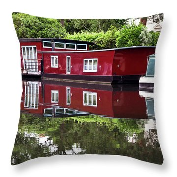 Regent Houseboats Throw Pillow by Keith Armstrong