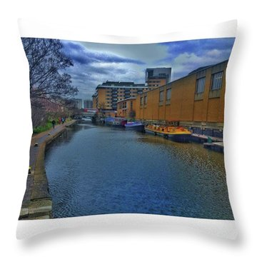 #regents #canal #london #boats #ripples Throw Pillow
