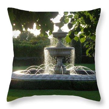 Regents Park Fountain Throw Pillow