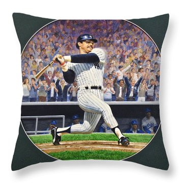 Reggie Jackson Throw Pillow