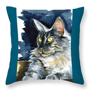 Regina - Maine Coon Painting Throw Pillow