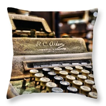 Throw Pillow featuring the photograph Register by Chad and Stacey Hall