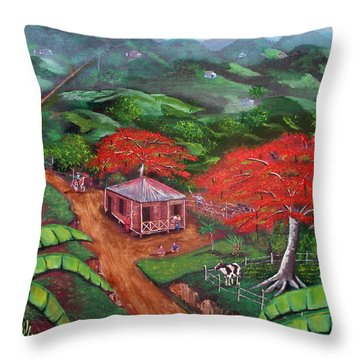 Regreso Al Campo Throw Pillow by Luis F Rodriguez