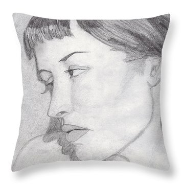 Regret Throw Pillow by Jean Haynes