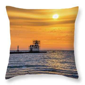 Throw Pillow featuring the photograph Rehabilitation Rising by Bill Pevlor