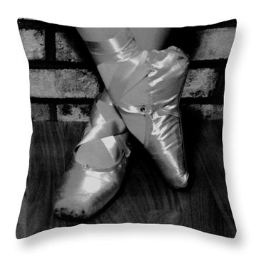 Throw Pillow featuring the photograph Rehearsal Break by Sarah Farren