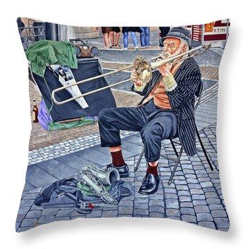 Rehearsal In Prague Throw Pillow