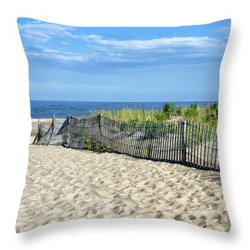 Throw Pillow featuring the photograph Rehoboth Delaware by Brendan Reals