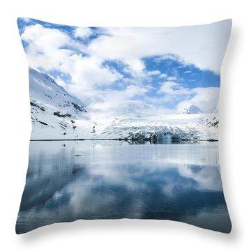 Reid Glacier Glacier Bay National Park Throw Pillow