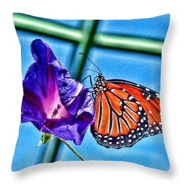 Reigning Monarch Throw Pillow