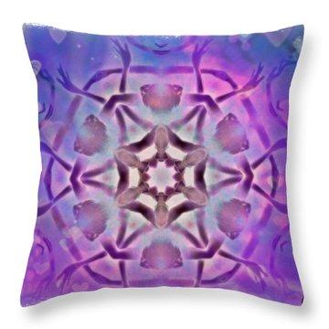 Reiki Infused Healing Hands Mandala Throw Pillow