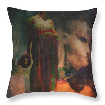 Throw Pillow featuring the digital art Reincarnation by Alexis Rotella