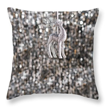 Throw Pillow featuring the photograph Reindeer  by Ulrich Schade