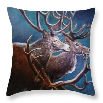 Reindeers Throw Pillow