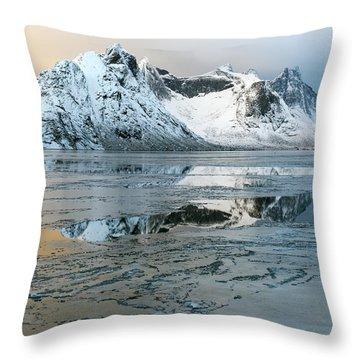 Reine, Lofoten 5 Throw Pillow by Dubi Roman