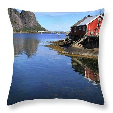 Reine, Norway Throw Pillow