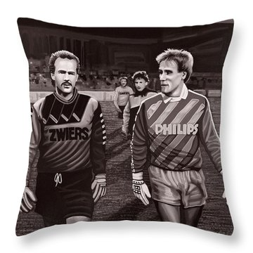 Reinier En Hans Throw Pillow by Paul Meijering
