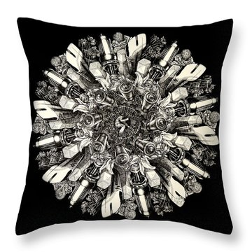 Reinventing The Wheel Throw Pillow