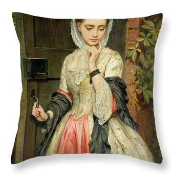 Rejected Addresses Throw Pillow by Charles Sillem Lidderdale