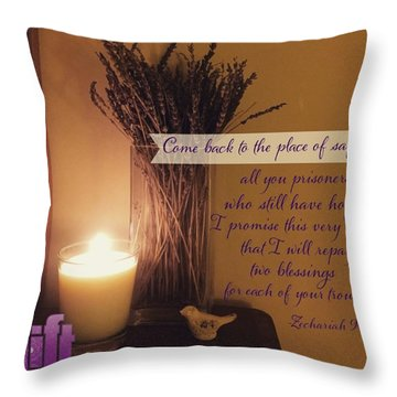 Rejoice, O People Of Zion!  Shout In Throw Pillow