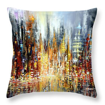 Rejoice Throw Pillow by Tatiana Iliina
