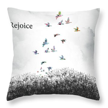 Throw Pillow featuring the digital art Rejoice by Trilby Cole