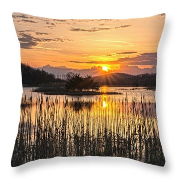 Rejoicing Easter Morning Skies Throw Pillow