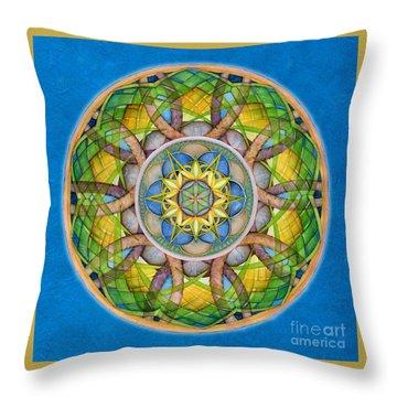 Rejuvenation Mandala Throw Pillow