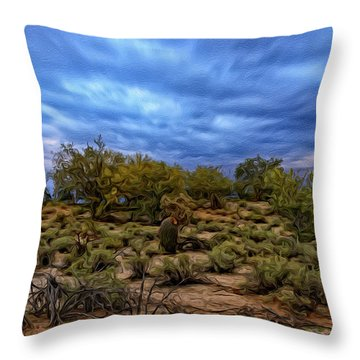 Throw Pillow featuring the photograph Rejuvenation Op19 by Mark Myhaver