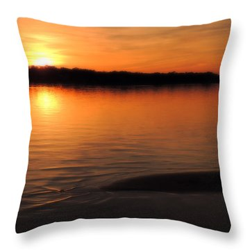 Relax And Enjoy Throw Pillow by Teresa Schomig