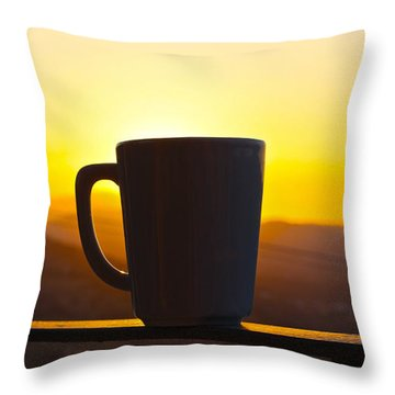 Relax At Sunset Throw Pillow by David Warrington