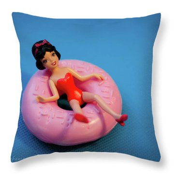 Relax Girl Throw Pillow