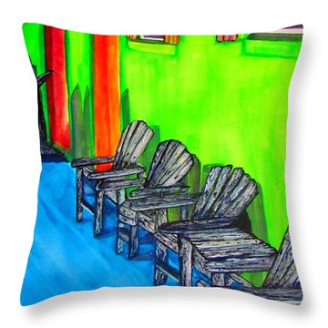 Throw Pillow featuring the painting Relax by Lil Taylor
