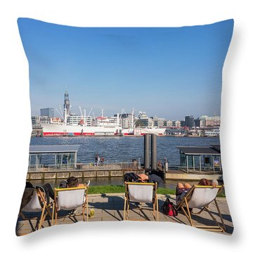 Relax On The Elbe Throw Pillow