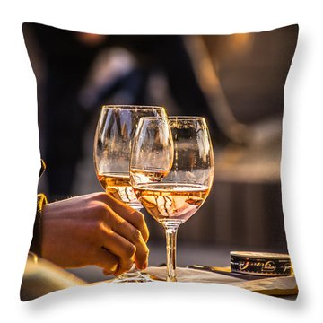 Relax Together Throw Pillow by David Warrington