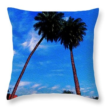 Relax With Nature Throw Pillow