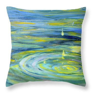 Relaxation Throw Pillow by Evelina Popilian
