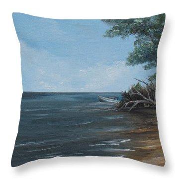 Relaxation Island Throw Pillow