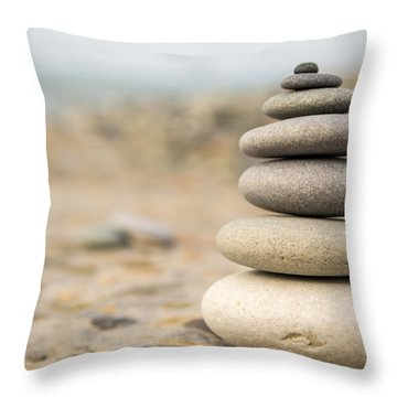 Throw Pillow featuring the photograph Relaxation Stones by John Williams