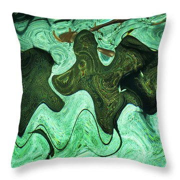 Throw Pillow featuring the photograph Relaxing Abstract Of Rays And Sharks by Dennis Dame