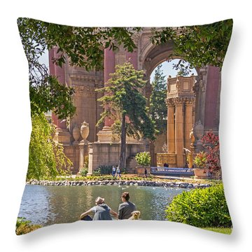 Relaxing At The Palace Throw Pillow