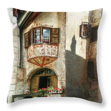 Throw Pillow featuring the photograph Relaxing Evening Sun  by Hanny Heim