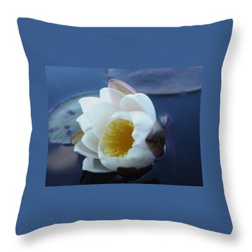 Relaxing In The Pond Throw Pillow