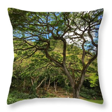 Relaxing Under The Tree Throw Pillow