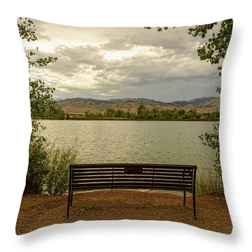 Throw Pillow featuring the photograph Relaxing View by James BO Insogna